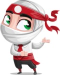 White Ninja with Business Clothes Vector Character Design AKA Yoshiro - Showcase 2