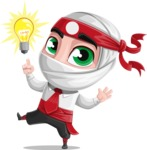 White Ninja with Business Clothes Vector Character Design AKA Yoshiro - Idea