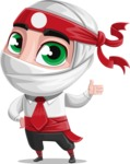 White Ninja with Business Clothes Vector Character Design AKA Yoshiro - Show 1