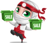 White Ninja with Business Clothes Vector Character Design AKA Yoshiro - Sale 1