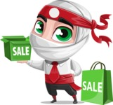 White Ninja with Business Clothes Vector Character Design AKA Yoshiro - Sale 2