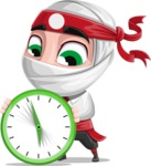 White Ninja with Business Clothes Vector Character Design AKA Yoshiro - Time is running out