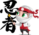 White Ninja with Business Clothes Vector Character Design AKA Yoshiro - Creativity