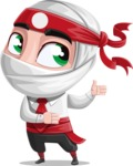 White Ninja with Business Clothes Vector Character Design AKA Yoshiro - Show 2