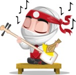 White Ninja with Business Clothes Vector Character Design AKA Yoshiro - Music