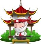 White Ninja with Business Clothes Vector Character Design AKA Yoshiro - Temple