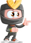 Cute Ninja Cartoon Vector Character AKA Arata - Point 2