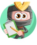 Cute Ninja Cartoon Vector Character AKA Arata - Shape 1