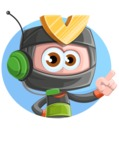 Cute Ninja Cartoon Vector Character AKA Arata - Shape 3