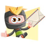 Cute Ninja Cartoon Vector Character AKA Arata - Shape 4