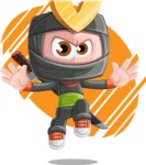 Cute Ninja Cartoon Vector Character AKA Arata - Shape 5