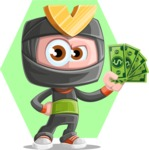 Cute Ninja Cartoon Vector Character AKA Arata - Shape 6