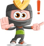 Cute Ninja Cartoon Vector Character AKA Arata - Direct Attention 1