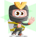 Cute Ninja Cartoon Vector Character AKA Arata - Shape 12
