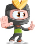 Cute Ninja Cartoon Vector Character AKA Arata - Direct Attention 2