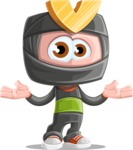 Cute Ninja Cartoon Vector Character AKA Arata - Sorry
