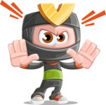 Cute Ninja Cartoon Vector Character AKA Arata - Stop 1