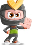 Cute Ninja Cartoon Vector Character AKA Arata - Stop 2