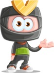 Cute Ninja Cartoon Vector Character AKA Arata - Lost 1