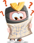 Cute Ninja Cartoon Vector Character AKA Arata - Lost 2