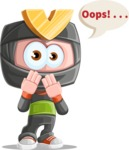 Cute Ninja Cartoon Vector Character AKA Arata - Oops