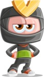 Cute Ninja Cartoon Vector Character AKA Arata - Bored 1