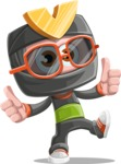 Cute Ninja Cartoon Vector Character AKA Arata - Sunglasses