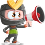 Cute Ninja Cartoon Vector Character AKA Arata - Loudspeaker