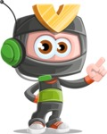 Cute Ninja Cartoon Vector Character AKA Arata - Support