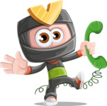 Cute Ninja Cartoon Vector Character AKA Arata - Support 2