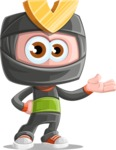 Cute Ninja Cartoon Vector Character AKA Arata - Showcase 1