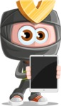 Cute Ninja Cartoon Vector Character AKA Arata - Tablet 1