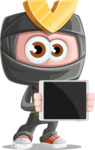 Cute Ninja Cartoon Vector Character AKA Arata - Tablet 2
