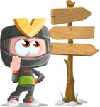 Cute Ninja Cartoon Vector Character AKA Arata - Crossroads