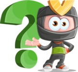 Cute Ninja Cartoon Vector Character AKA Arata - Question