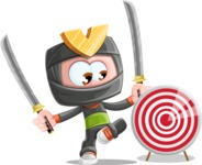 Cute Ninja Cartoon Vector Character AKA Arata - Target