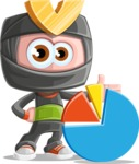 Cute Ninja Cartoon Vector Character AKA Arata - Chart