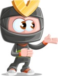 Cute Ninja Cartoon Vector Character AKA Arata - Showcase 2