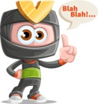 Cute Ninja Cartoon Vector Character AKA Arata - Talking