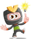Cute Ninja Cartoon Vector Character AKA Arata - Idea