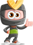 Cute Ninja Cartoon Vector Character AKA Arata - Show 1