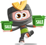 Cute Ninja Cartoon Vector Character AKA Arata - Sale 1