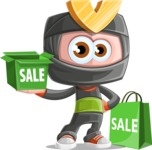 Cute Ninja Cartoon Vector Character AKA Arata - Sale 2