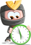 Cute Ninja Cartoon Vector Character AKA Arata - Time is running out