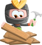 Cute Ninja Cartoon Vector Character AKA Arata - Repair