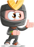 Cute Ninja Cartoon Vector Character AKA Arata - Show 2