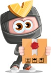Cute Ninja Cartoon Vector Character AKA Arata - Delivery 1