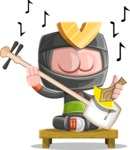 Cute Ninja Cartoon Vector Character AKA Arata - Music