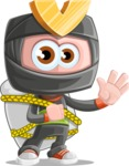 Cute Ninja Cartoon Vector Character AKA Arata - Travel