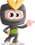 Cute Ninja Cartoon Vector Character AKA Arata - Point 1